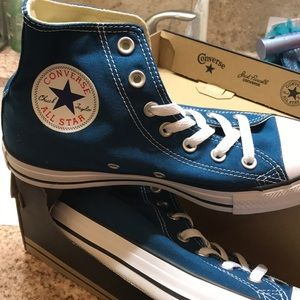 Brand NWT blue converse